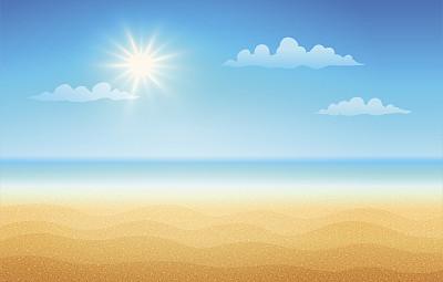 海滩白昼日光