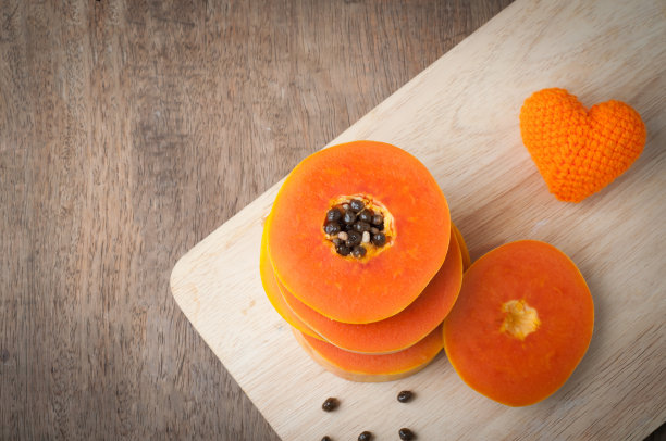 木瓜切片食物形状