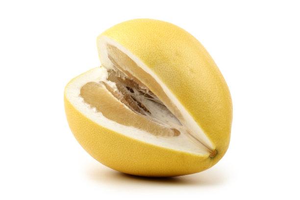 柚子分离着色白色背景