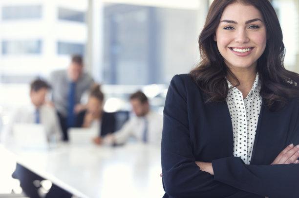 办公室女商人团队