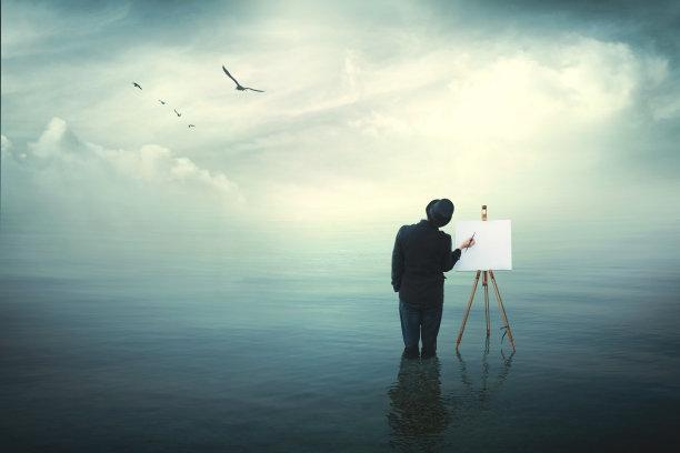 超现实主义艺术家画布