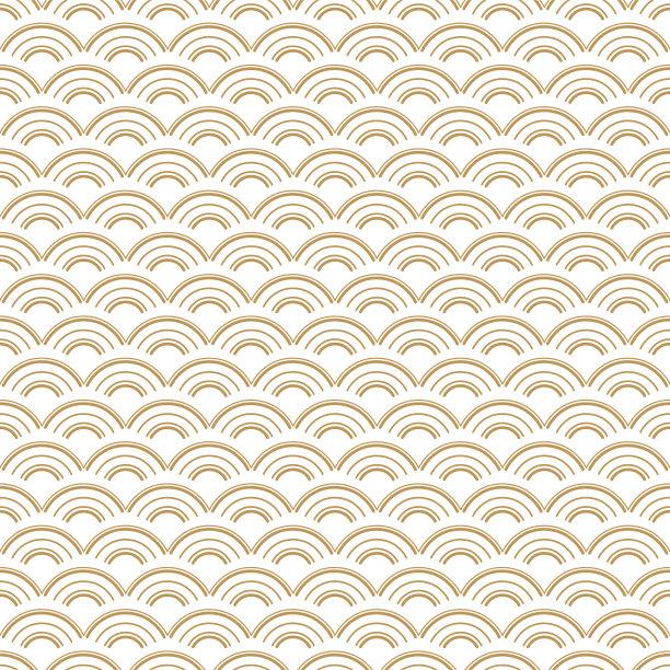 传统黄金四方连续纹样