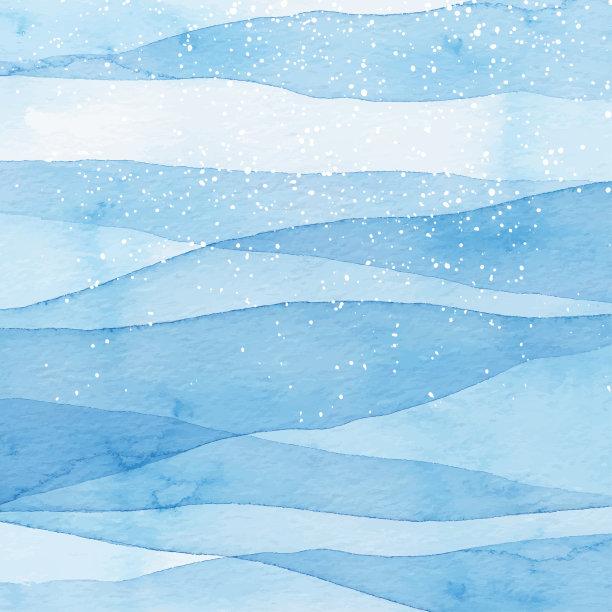 雪冬天蓝色背景