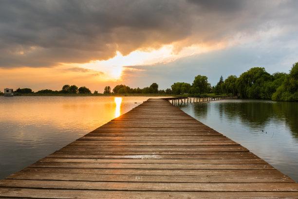 湖,斯洛伐克,桥