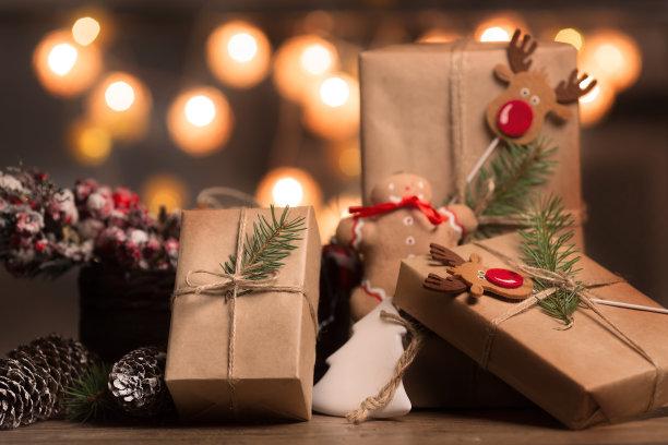 油皮纸包装圣诞节礼物
