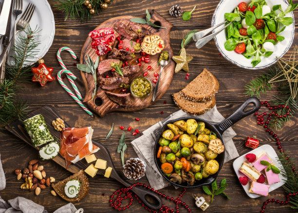 餐桌宴会低碳水化合物饮食