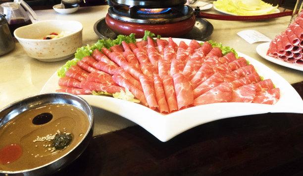 切片食物美味日式火锅菜