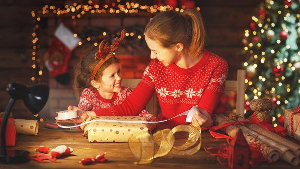 圣诞礼物打包儿童
