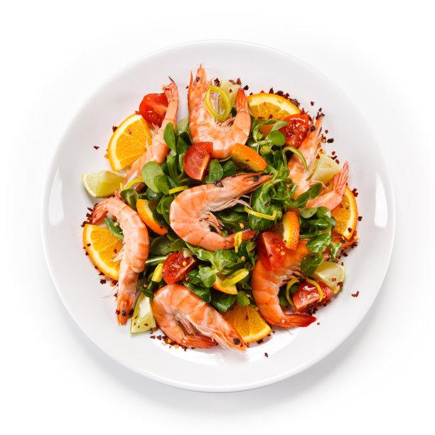 虾蔬菜图片