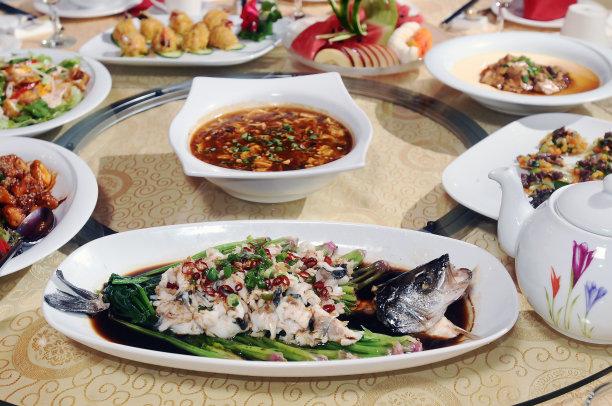 中国食品桌子图片