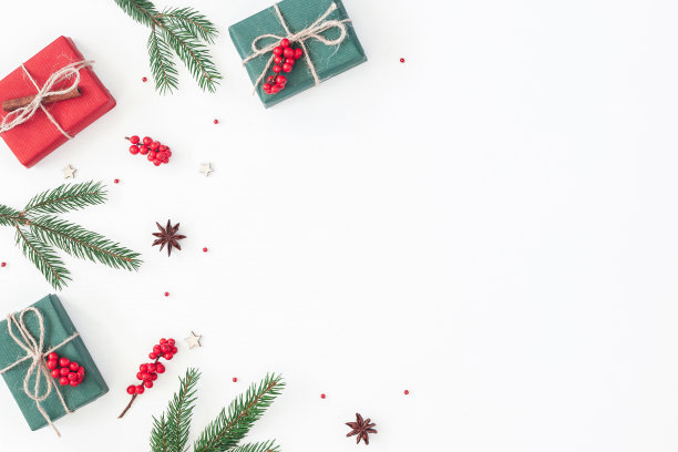 圣诞礼物留白边框