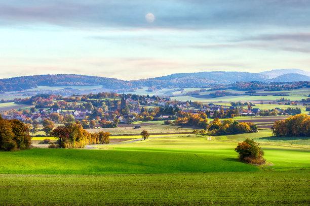 巴伐利亚乡村山谷