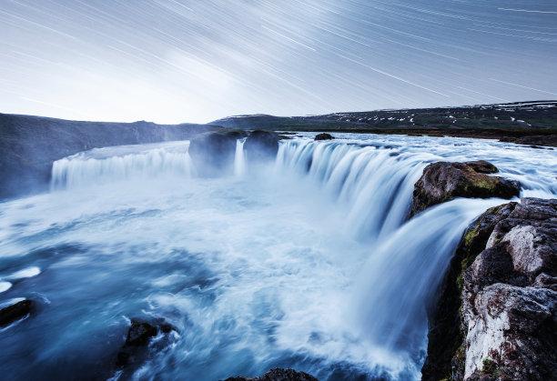 星星瀑布冰岛国