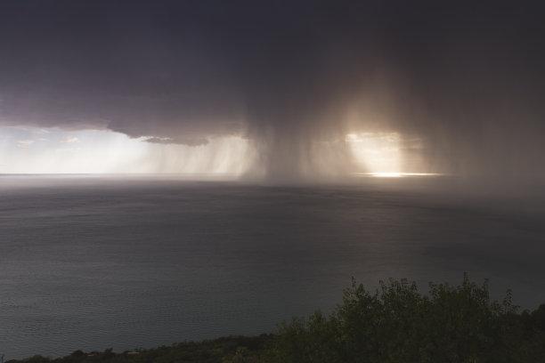 暴风雨暴雨亚得里亚海