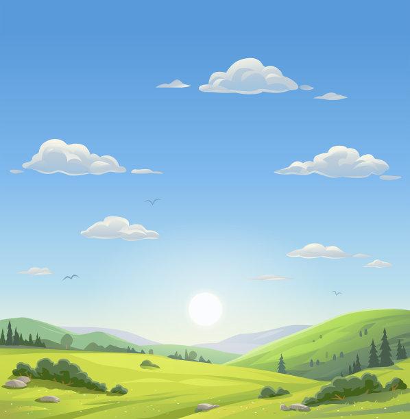 地形早晨自然美