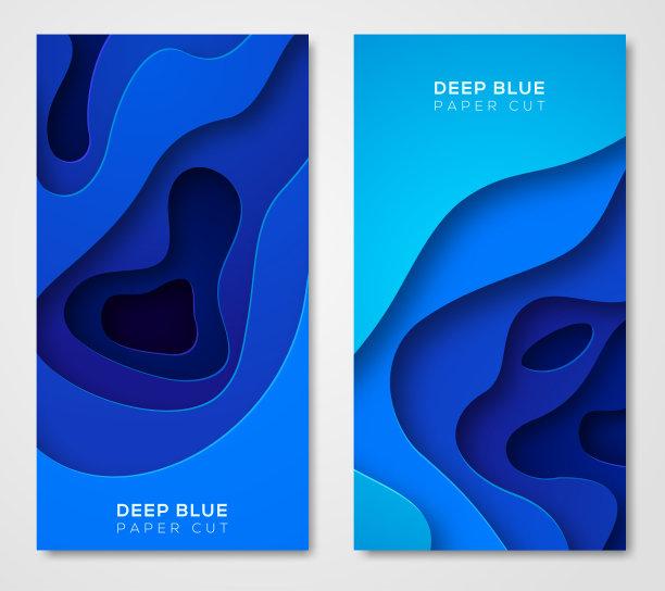 抽象蓝色背景垂直画幅