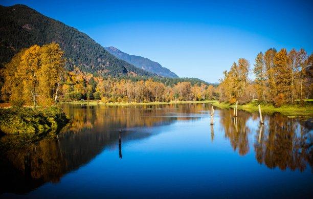 秋天,河流,水平画幅