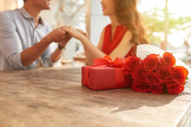 情侣庆祝情人节