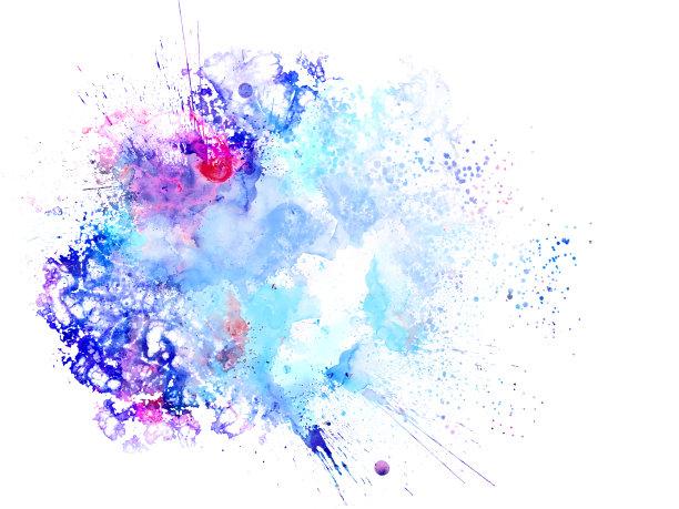 绘画艺术撞色