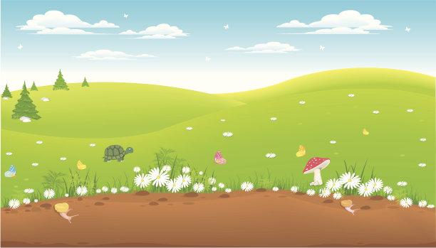 地形背景草地