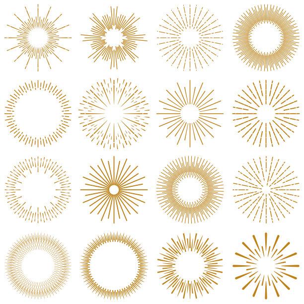 金色爆炸阳光光束