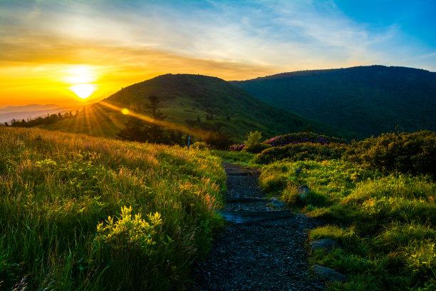 阿巴拉契亚山间栈道苏格兰高地水平画幅
