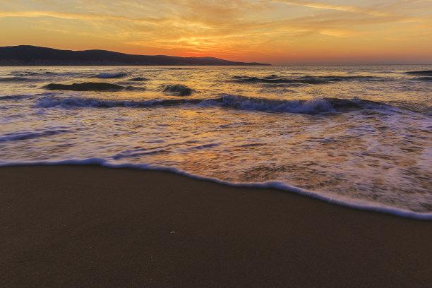 海滩,保加利亚,海岸线