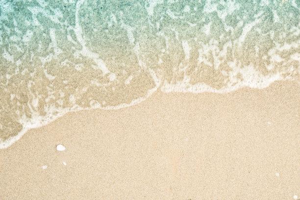沙滩海浪局部特写