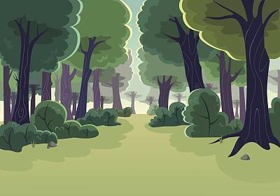 森林卡通树林