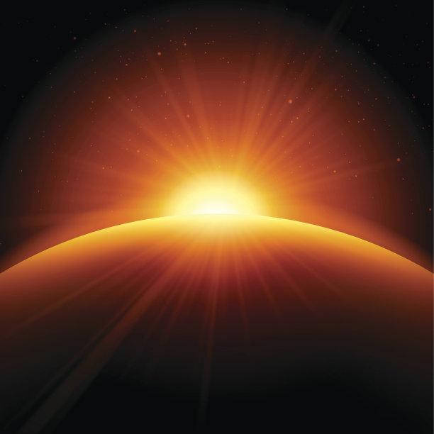 背景橙色抽象