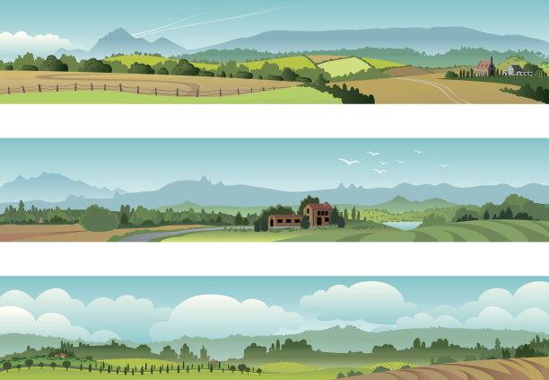 田园风光地形农场