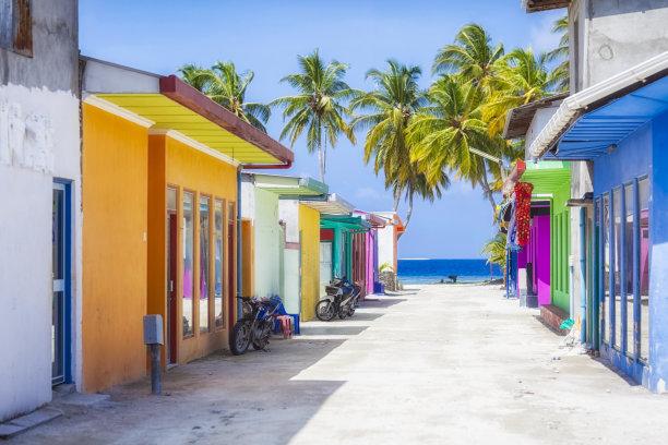 马尔代夫商业街图片