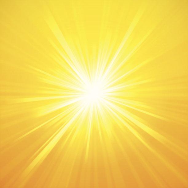 太阳夏天明亮