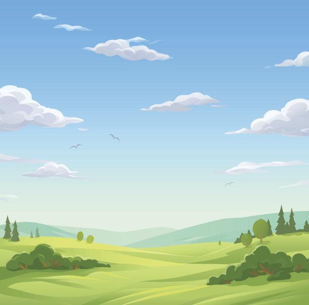 地形卡通天空