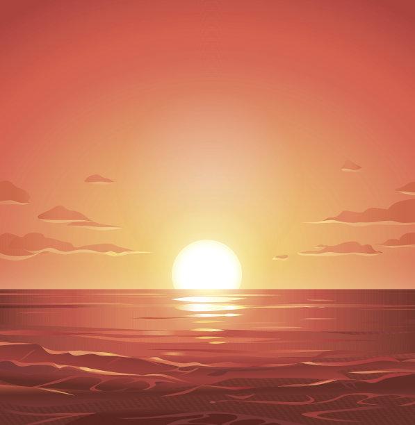 海洋黎明太阳