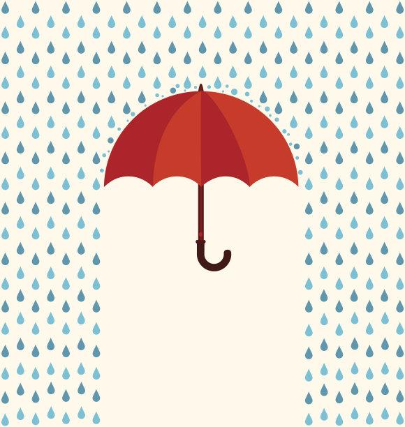 伞冬天矢量