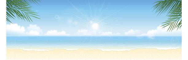 海滩夏天背景