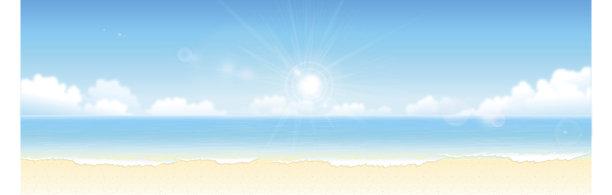 背景夏天海滩