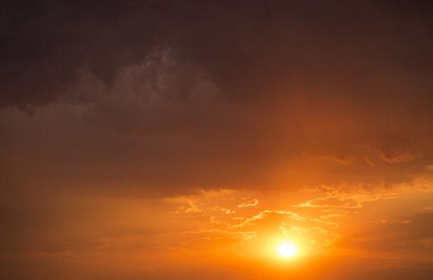 天空,热,背景