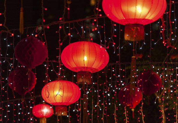 中国灯笼红色中秋节