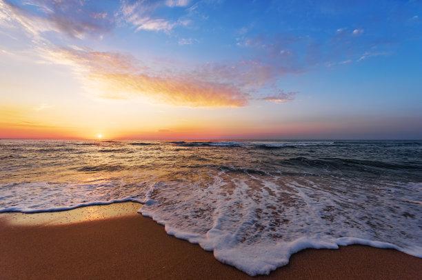 海洋,波浪,金色