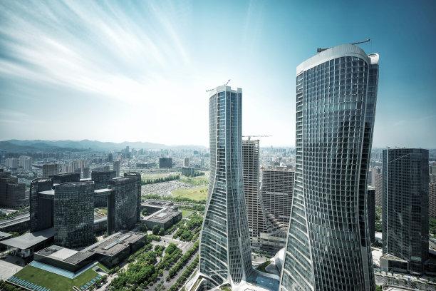 城市现代建筑外部