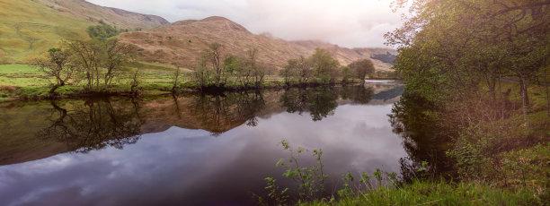 orchy河,苏格兰,山谷