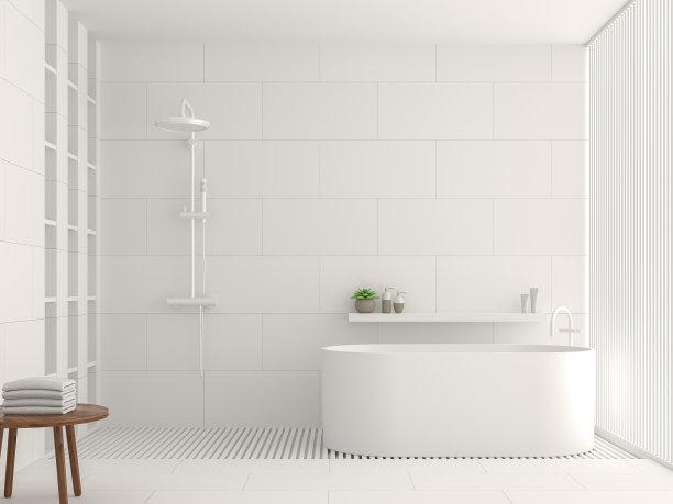 白色室内瓷砖
