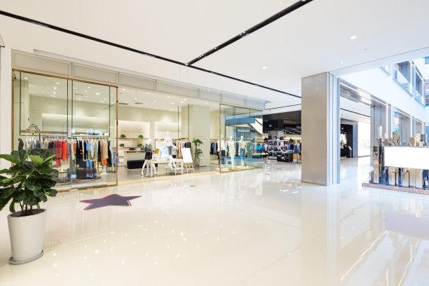 现代商场走廊