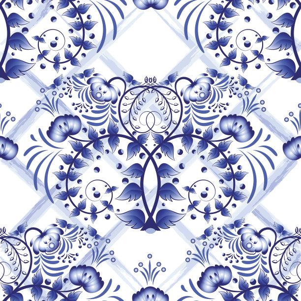 俄罗斯人瓷器花纹