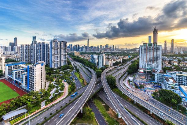 城市天际线深圳水平画幅
