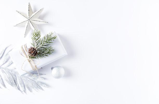 圣诞装饰包装纸留白