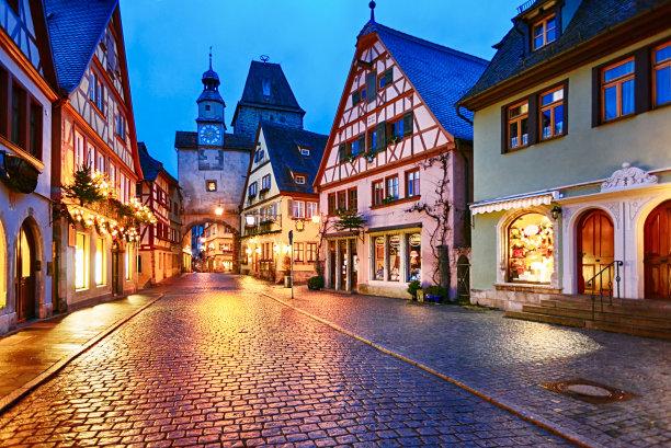 巴伐利亚罗滕堡洛森堡德国
