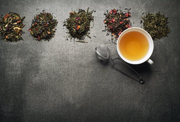 芳香的茶叶